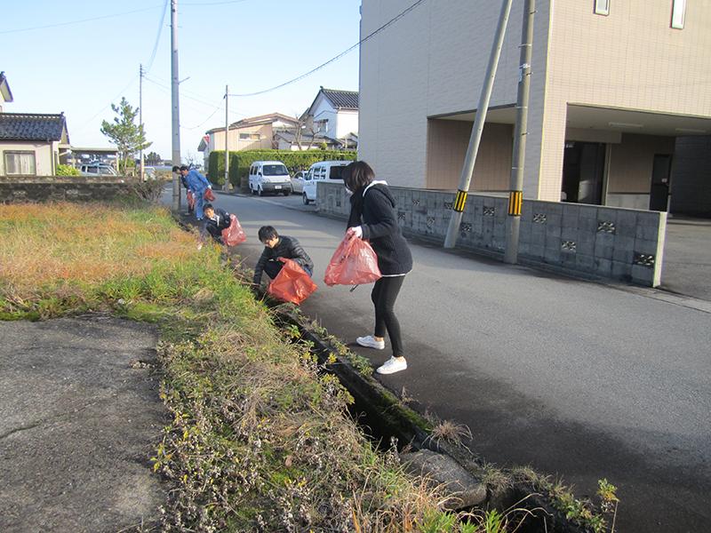 近隣のボランティア清掃